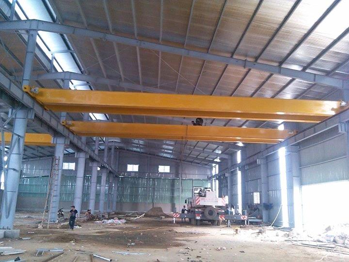 Lắp đặt cầu trục dầm đôi 5 tấn 18m