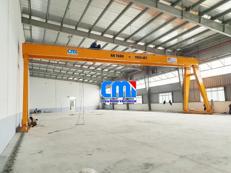 Cổng trục dầm đôi 5 tấn 20 mét